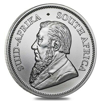 BRAND NEW ~ 2018 ONE OUNCE SILVER BU SOUTH AFRICA KRUGERRAND ~ 1c START