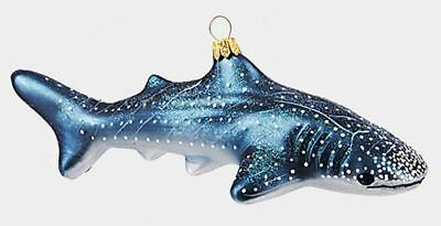 Whale Shark Ocean Life Polish Mouth Blown Glass Christmas Ornament Decoration
