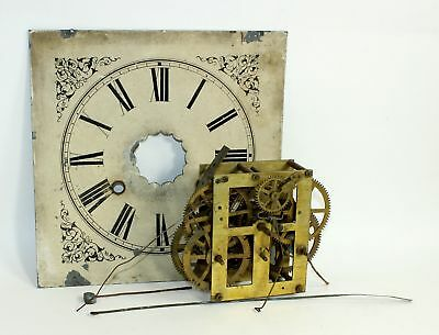 ANTIQUE OG TIME AND STRIKE CLOCK MOVEMENT w/DIAL - PARTS / REPAIR MX167