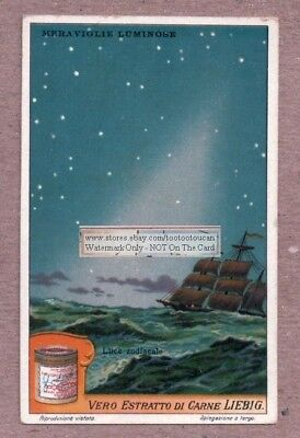 Zodiacale Light Band Astronomy Cassini c1915 Trade Ad Card