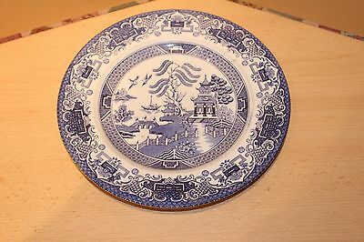 BOOTHS OLD WILLOW PLATE - 24.5cm DIA BLUE & WHITE