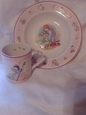 Nursery Rhyme Collection Child's Bowl & Cup Set Pink By Aynsley