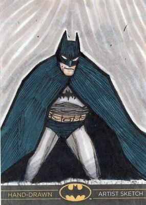 DC Comics Batman: The Legend Color Sketch Card by Artist Unknown - Batman