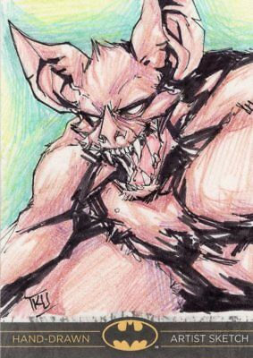 DC Comics Batman: The Legend Color Sketch Card by Laurange - Manbat