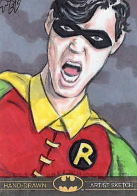 DC Comics Batman: The Legend Color Sketch Card by TEV - Robin