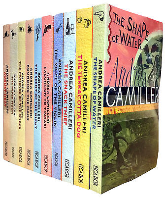 Inspector Montalbano Andrea Camilleri 10 Books Collection Set