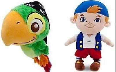 2 Plush Dolls * Disney Store JAKE & THE NEVER LAND PIRATES Skully & Cubby