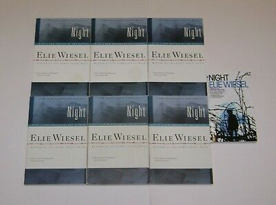 Lot Of 8 Night By Elie Wiesel Guided Reading Teacher Class Set Holocaust Gc~Read