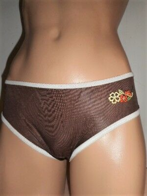 Vintage Adorable French Coffee Nylon Unlined Panties 6/m