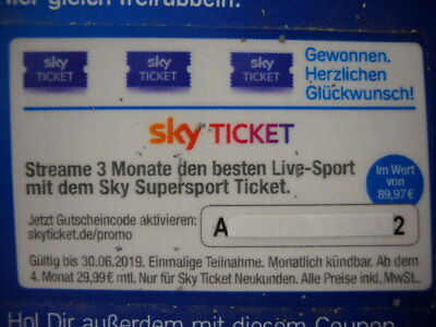 SKY Supersport Ticket - 3 Monate streamen, Gutscheincode CL Bundesliga DFB-Pokal