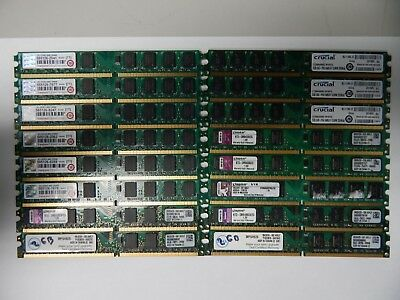Lot of 4 Mixed Brand Will Vary Low Profile DIMM DDR2 PC2-6400 Memory 2GB 72974TA