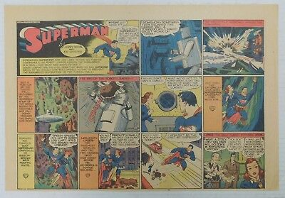 SUPERMAN SUNDAY COMIC STRIP #59 - 1940 Siegel & Shuster Newspaper Clipping