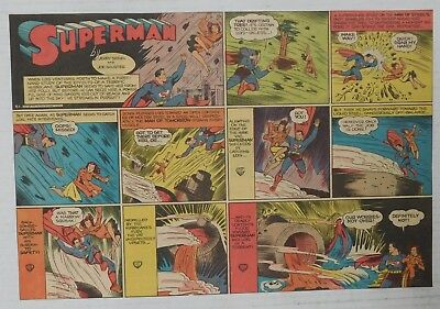SUPERMAN SUNDAY COMIC STRIP #61 - 1940 Siegel & Shuster Newspaper Clipping