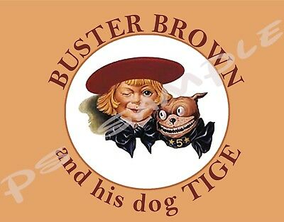 BUSTER BROWN AND TIGE - Vintage Ad Flexible Fridge Magnet