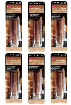 6 x Maybelline Color Sensational Stripped Nudes Lip Color 710 Sultry Sand 4.2g
