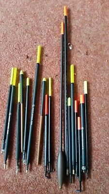 17  DAVE HARRELL River Floats Sticks Wagglers - Loaded/Unloaded many unused new