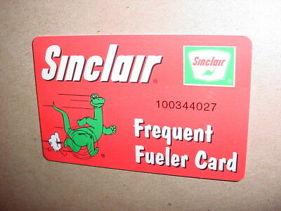 Vintage Sinclair Oil Company Frequent Fueler Card gas station credit card size