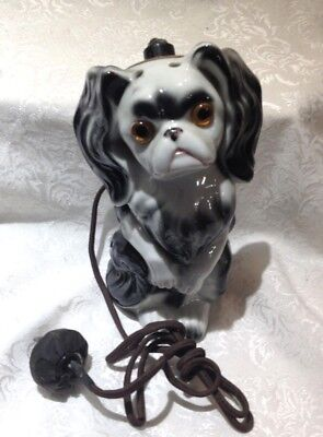 Vintage Dog Perfume Lamp - Japanese Chin or Pekingese - Aerozon
