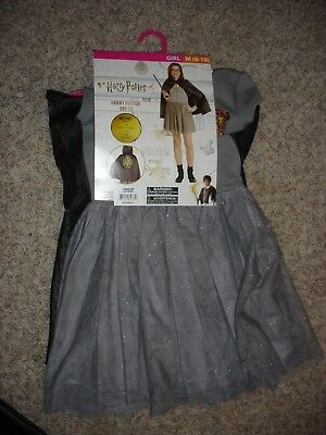 NEW Harry Potter dress Halloween Costume youth girls size M 8/10 cape & glasses