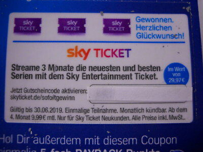 SKY Ticket Entertainment - 3 Monate Serien streamen, Gutscheincode, Wert 29,97 €