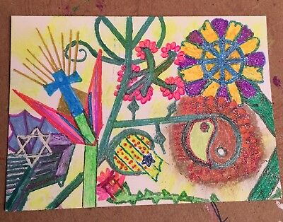 ACEO Art Card Original - Theme: Diversity - In the Garden there is Room - Series