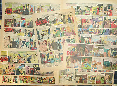 84 CAPTAIN EASY Sunday comics by Leslie Turner 1944-1947 (70), 1950-1958 (14)