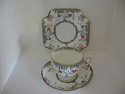 1930's HAND PAINTED CUP PLATE SAUCER