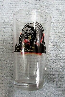 """Black Bear Vintage 1980's Miller High Life Beer Clear Heavy 6"""" Glass FREE S/H"""
