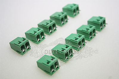 5.08MM 2-Pin Plug-in Screw Terminal Block Connector Pitch Panel PC Mount 20PCS
