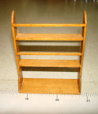 Dollhouse Miniatures 1:12 - Wooden KITCHEN SHELVING PLATE RACK - Signed BR8