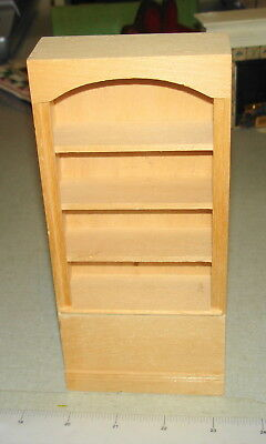 Dollhouse Miniatures 1:12 - Wooden Unfinished TALL BOOKCASE