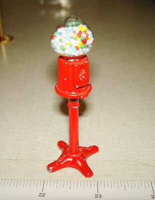 Dollhouse Miniatures 1:12 - Metal CAST IRON GUMBALL VENDING MACHINE ON STAND