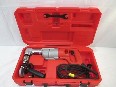 """Milwaukee Tools 3107-6 Corded 1/2"""" Right Angle Drill Power Tool Kit 335/750RPM"""