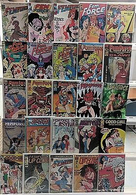 Femforce Comics Huge 25 Comic Book Collection Lot Set Run Books Box 2