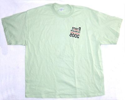 Franz Ferdinand! Local Crew 2005 Green T-Shirt 2Xl New