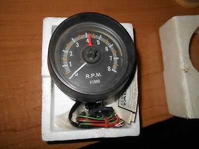 New Old Stock Electric Tachometer R.p.m.w/ Manual Race Cars