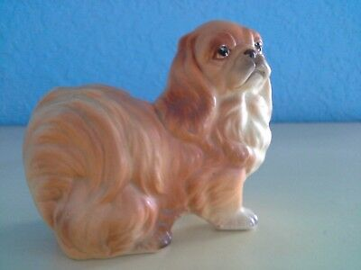 Vintage Japan Porcelain Ceramic Pottery Darling Pekingese Dog Figurine