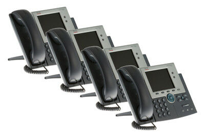 Cisco Two line Color Display IP Phone, CP-7945G, (Pack of 4), Lifetime Warranty