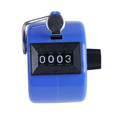 Blue 4 Digit Hand Tally Counter Clicker for Sports and Hobbies
