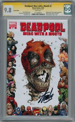Deadpool Merc With A Mouth #2 Variant Cgc 9.8 Signature Series Signed Stan Lee
