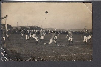 Sport - Football Action Photo  Old Trafford 3 Unsworth 0 23rd Mar 1907 RP