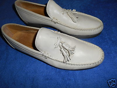 602df08c1d0 MAUS   HOFFMAN Off White Leather Loafer Shoes Size 9 M From Italy ...