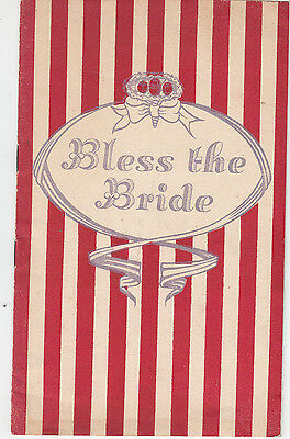 Berwick upon Tweed Amateur Operatic Society 1955 production Bless the Bride prog