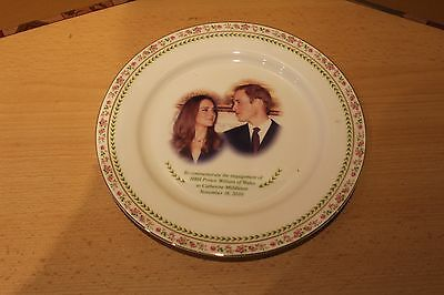 HRH PRINCE WILLIAM ENGAGEMENT PLATE - 2010 By ROYAL DOULTON