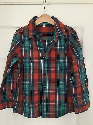 Boys shirt marks and spencer Long Sleeve Check Shirt Age 5-6