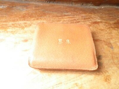 Vintage leather calling card case