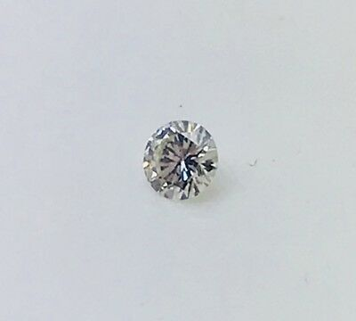 Pre Owned 12 Points 0.12ct Loose Brilliant cut round Diamond Stone