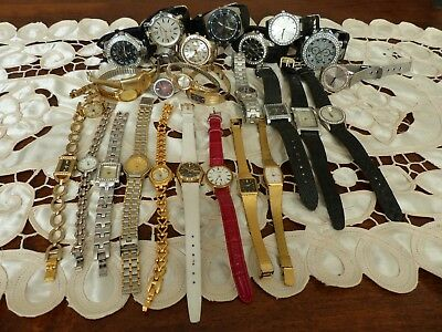 Job lot of Vintage retro ladies watches gold plated seiko, pulsar and more