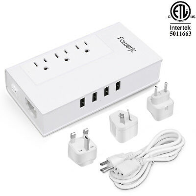 Travel Voltage Converter Power Adapter 2000W Step Down 220 to 110 Smart 4 USB