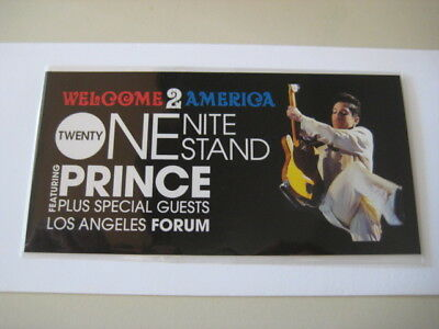 Prince Welcome America Tour Los Angeles 21 Nights VIP ticket